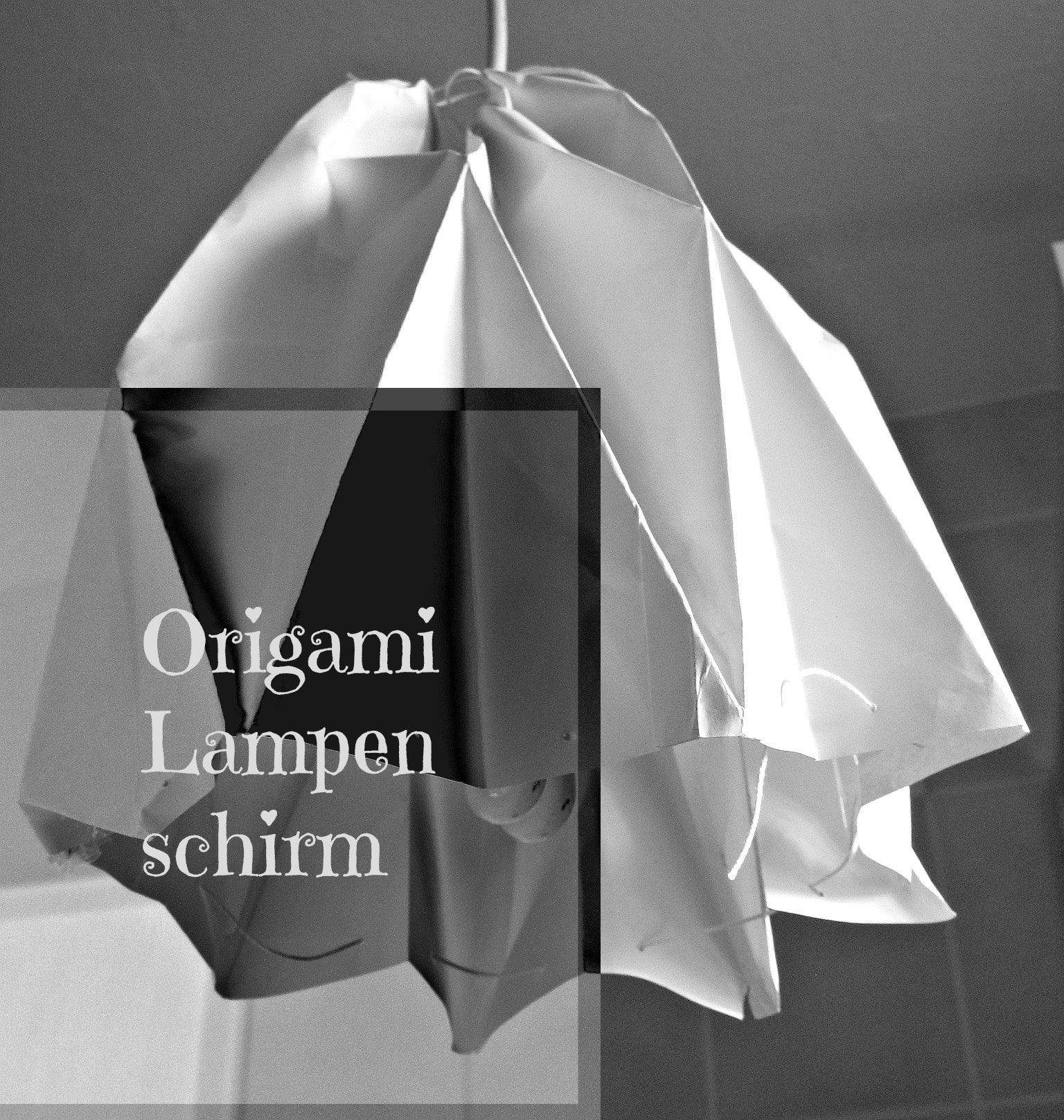 Origami Lampenschirm Handmade Kultur