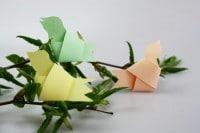 Papier-Vögel als Deko