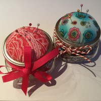 Pincushion Jar oder Nadelkissen-Glas