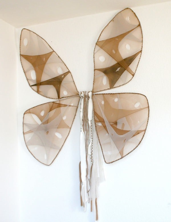 Schmetterlingsflügel aus alten Strumpfhosen - HANDMADE Kultur