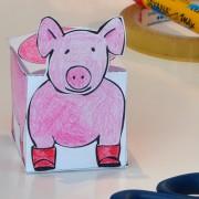 Schweinchen-Schachtel selber basteln