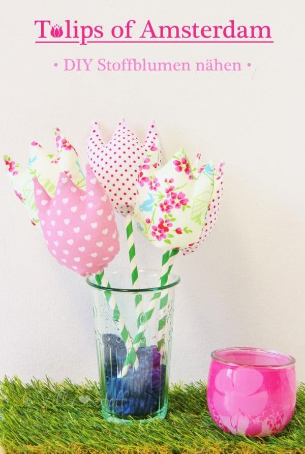 Tulpen aus Stoff nähen [mit Anleitung & Schnittmuster]