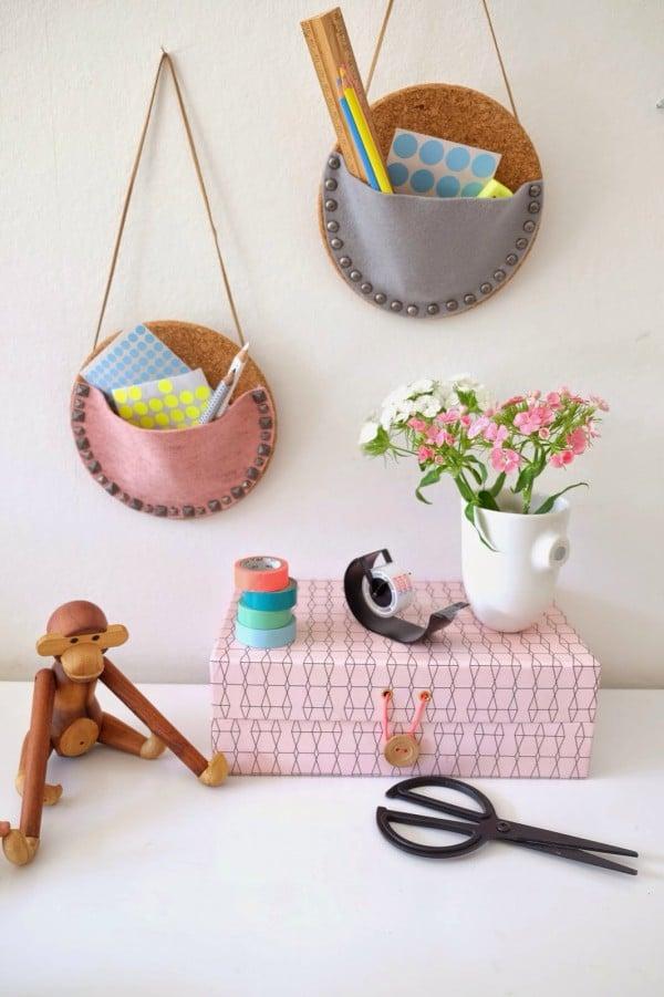 wand utensilos aus untersetzern handmade kultur. Black Bedroom Furniture Sets. Home Design Ideas