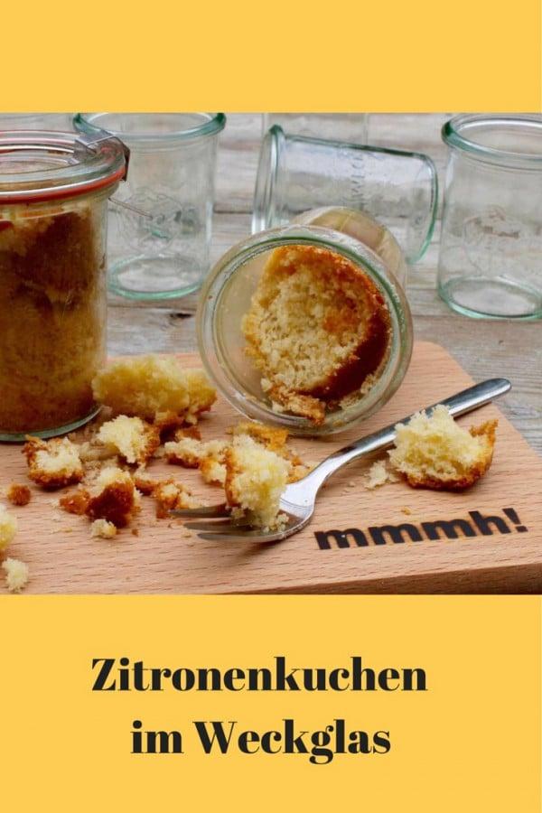 Zitronenkuchen im Glas ... so saftig!