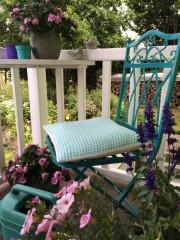 Gartenstuhl umlackieren