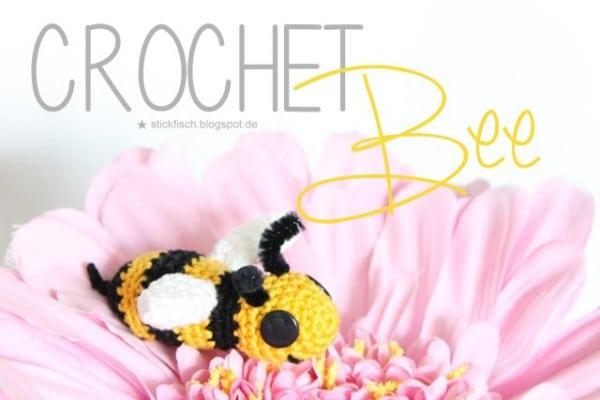 Gehäkelte Biene
