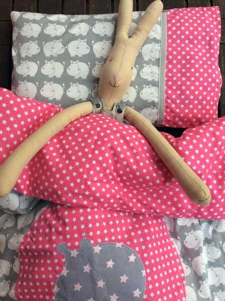 Bettwäsche fürs Kinderbettchen mit Anleitung