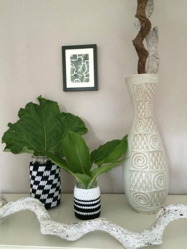 Aus einem Gurkenglas wird eine Vase