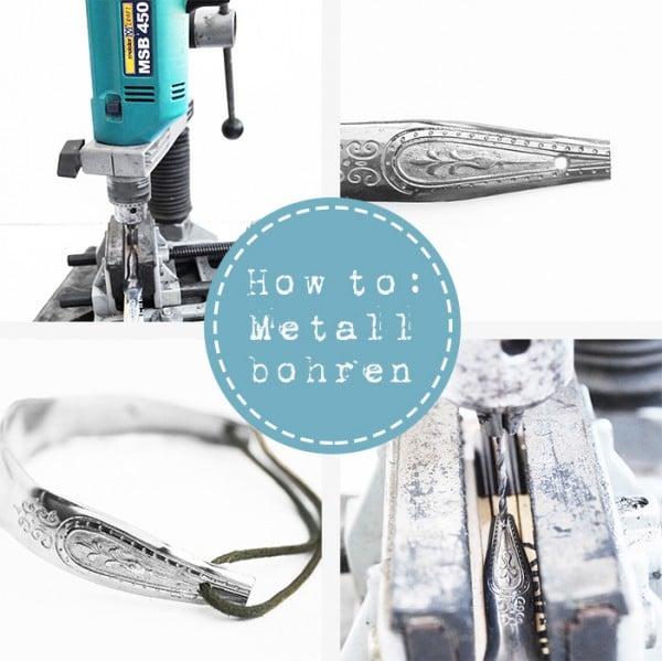 Metall bohren für Schmuck