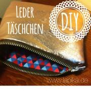 Praktisches Leder - Wende - Krimskrams - Täschchen
