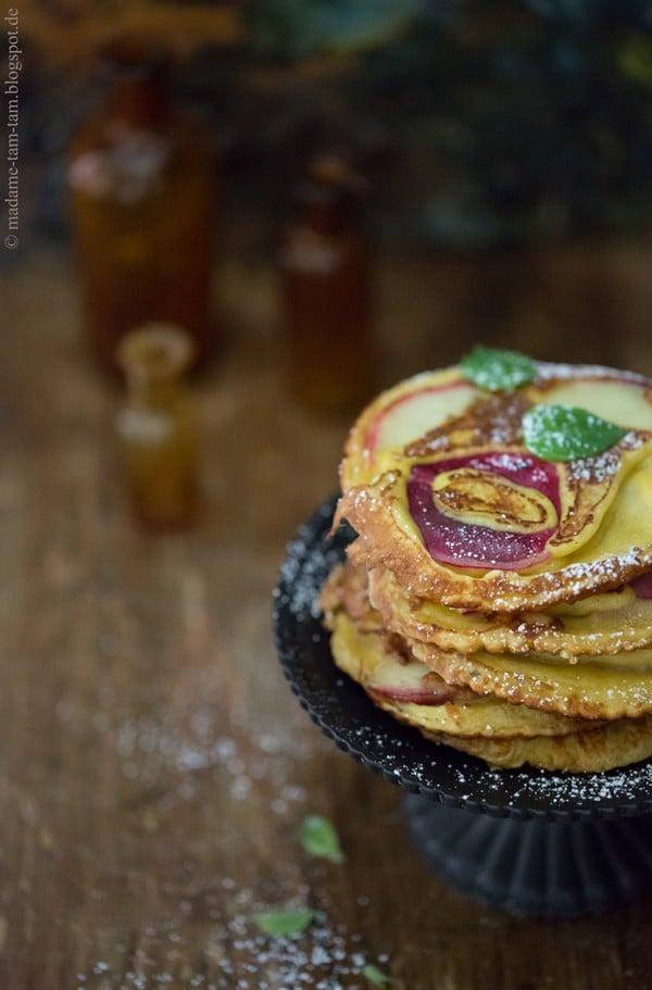 Bergpfirsich-Pfannkuchen