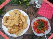 Bruschetta mit Orangen