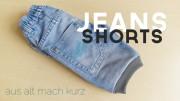 DIY | Schnelle Jeans-Shorts mit Bündchen