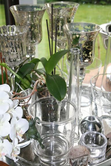 Glas und Silber