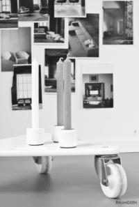 Kerzenhalter aus Longboard-Rollen