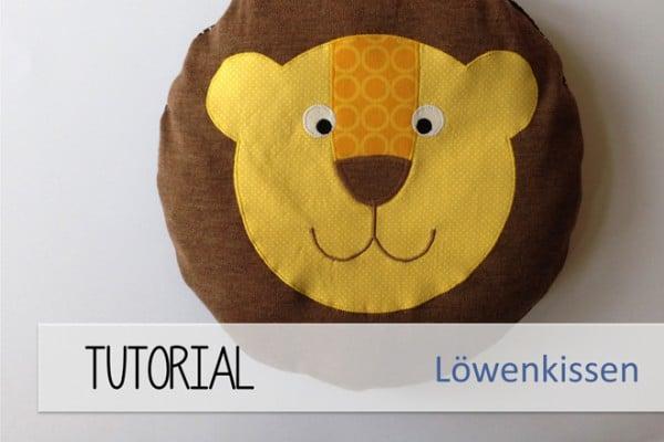 Löwen-Kissen l FREEbook - HANDMADE Kultur