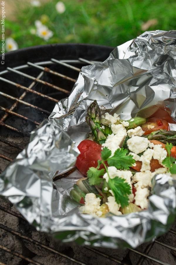 Mariniertes Grill-Gemüse mit Feta!
