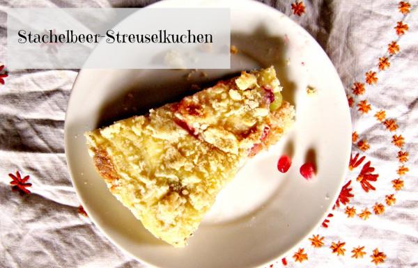 Stachelbeer-Hefe-Streuselkuchen