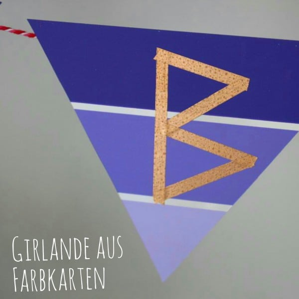 Wimpelketten Girlande aus Farbtonkarten