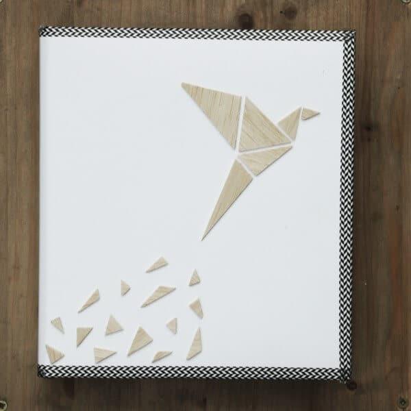 3D Holz-Album im Tangram-Design