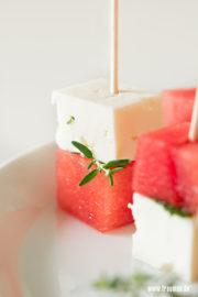 Wassermelone Feta Happen