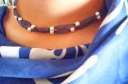 DIY feine Halskette mit Perlen