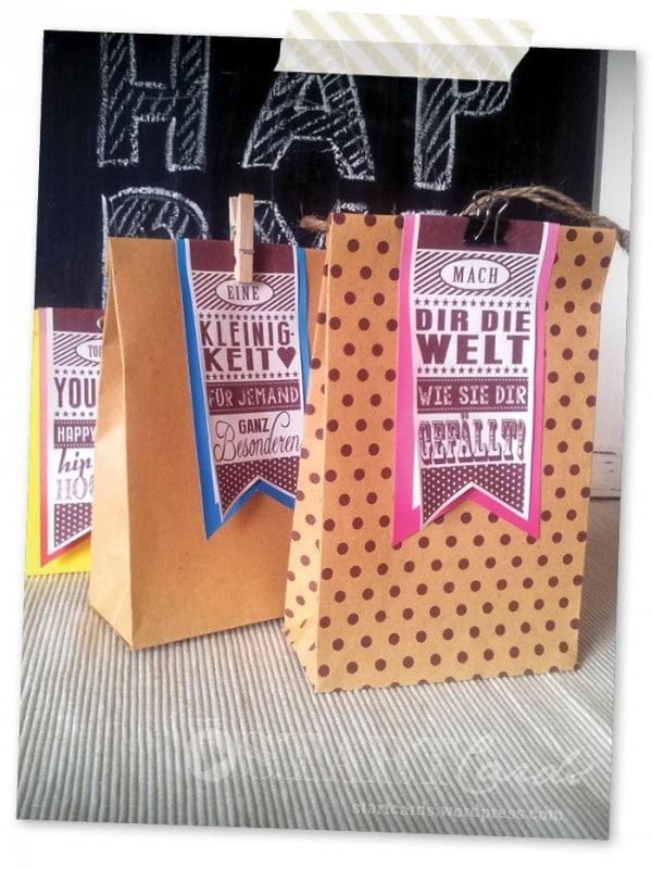 DIY - Last minute Geschenktüte aus einem Briefumschlag - Einfach und schnell gebastelt