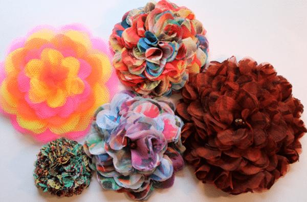 Effektvolle Stoffblumen nähen