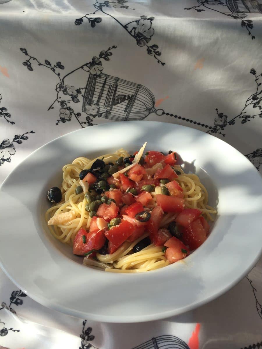 Erfrischende Spaghetti