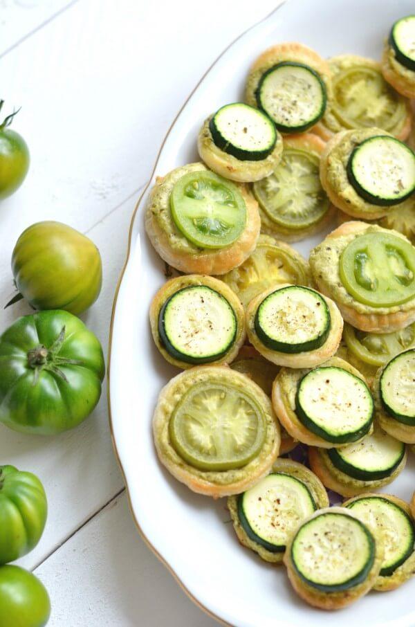 Grüne Tomaten Kreise von den [Foodistas]