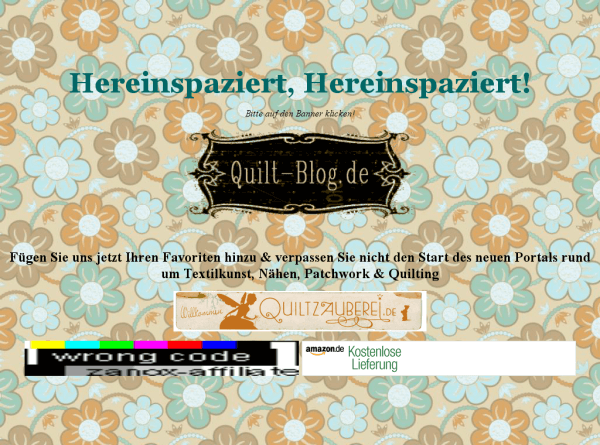 Quilt-Blog.de - Seit 2004 Insidernews aus der kreativen Nähbranche, Tutorials, gratis Anleitungen & Schnittmuster + mehr!