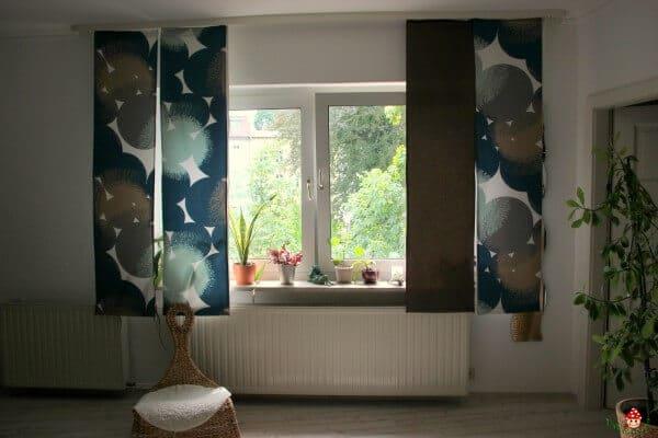 diy schiebevorh nge handmade kultur. Black Bedroom Furniture Sets. Home Design Ideas