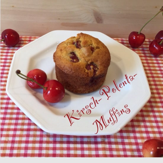 Kirsch-Polenta-Muffins