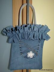 Jeans-Tasche mit Rüschenrand