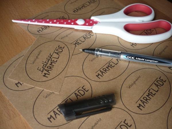 Marmeladen-Sticker