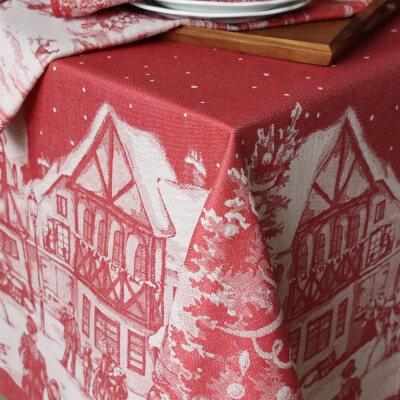 Leinen Tischdecke Jacquard Weihnachten
