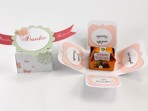 Mini-Explosion Box für Ferrero Küsschen