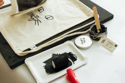 Drucken auf Stoff und Papier