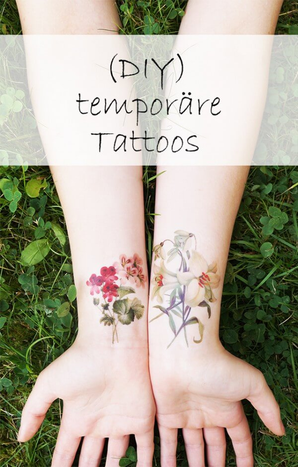 Temporäre DIY Tattoos