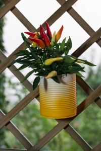 Blumenhänger aus Altmetall #recycling