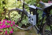 Fahrradtasche für 4 Flaschen aus Filz mit Anleitung