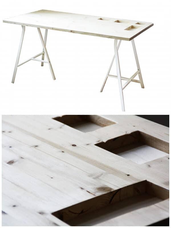 DIY storage desk