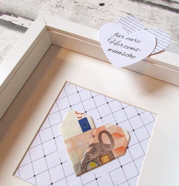 Geldgeschenk Zur Hochzeit Verpacken Herzenswunsche Handmade Kultur