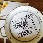 Die Zeichen der Zeit…Handlettering und die Küchenuhr