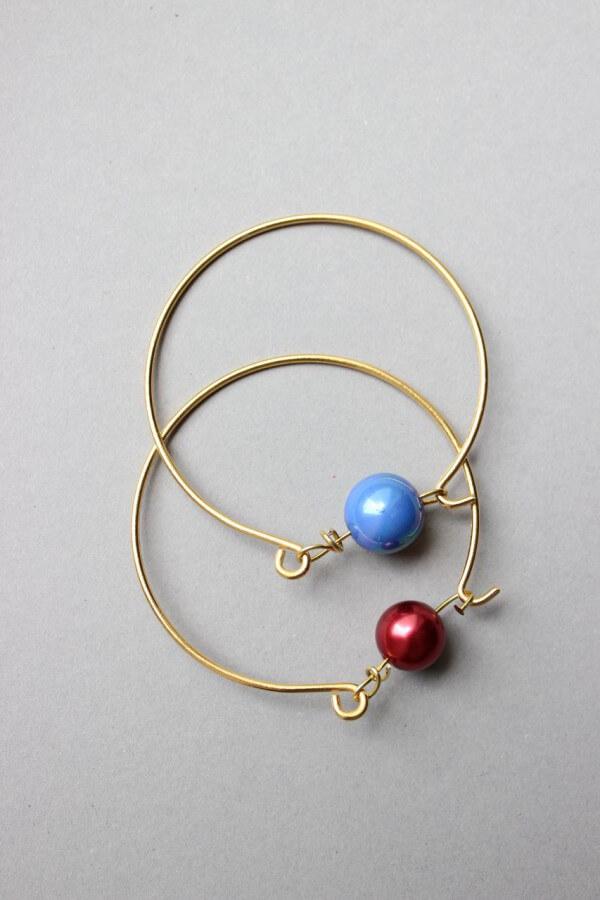 #DIY – Perlenarmband in gold aus Draht