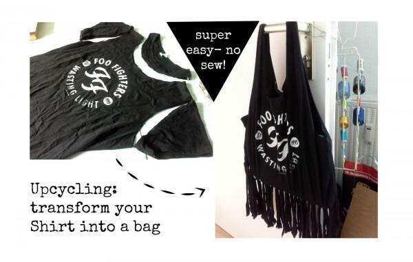 Upcycling:Aus einem Shirt eine Tasche machen, ganz ohne nähen