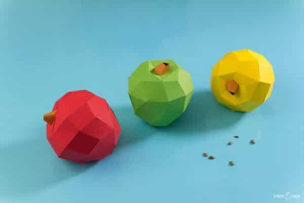 Papier Apfel