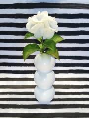 """""""Upcycling"""" einer leeren Getränkeflasche zur Blumenvase"""