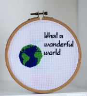 "Stickbild Globus: ""What a wonderful world"""