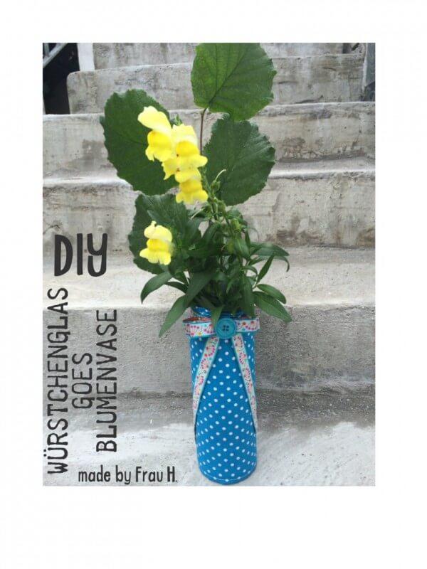 Würstchenglas goes Blumenvase